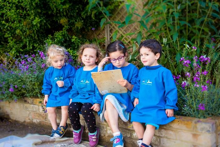 Four children sitting
