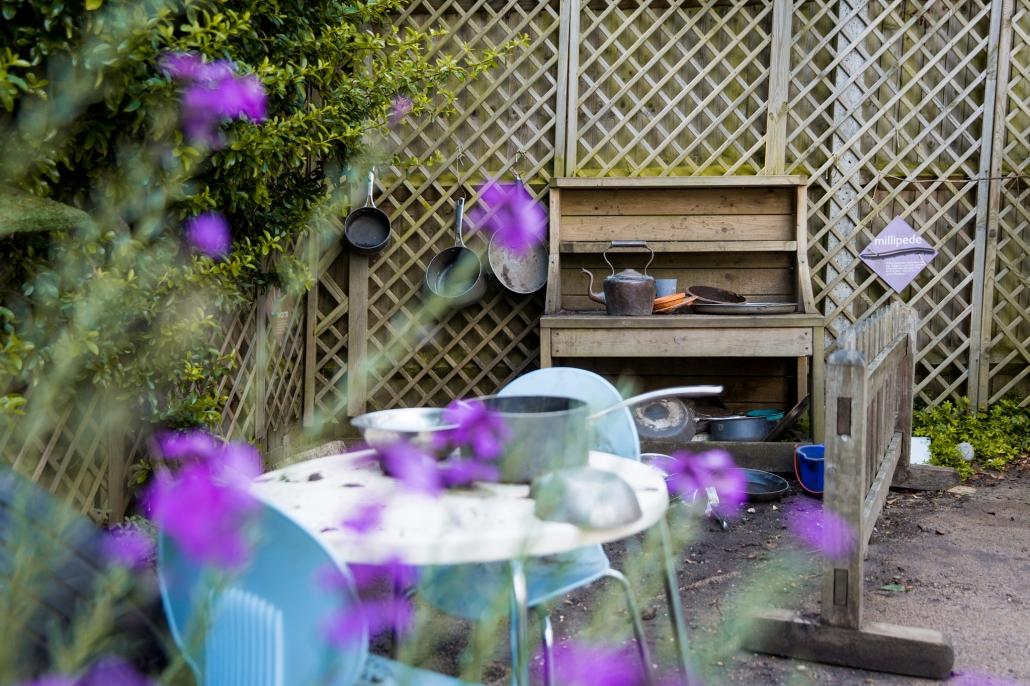 Our garden kitchen in spring